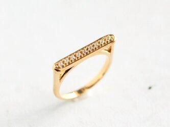【受注製作】U字型 ゴールドリング/ ダイヤモンド(K10YG)の画像