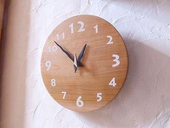 山桜の時計 30センチ 075s 文字盤白色の画像