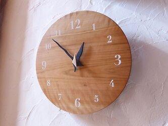 山桜の時計 30センチ 077s 文字盤白色の画像