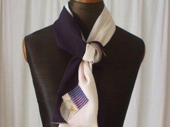 八掛とアンティーク羽織からのストール 絹の画像