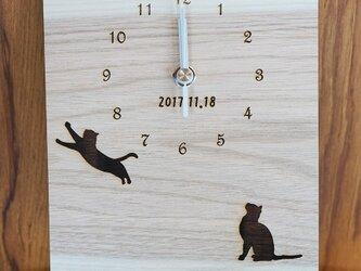 天然木のほっこり時計♪の画像