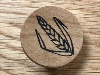 麦の穂のブローチの画像