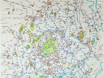 1964年(昭和39年)東京絵地図 インテリア風呂敷の画像