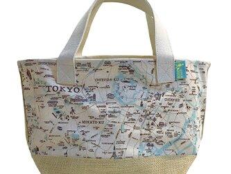 18ozキャンバストートマップ S 東京地図柄の画像