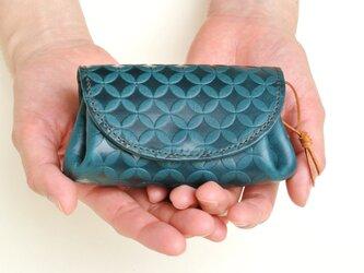 コロンとしたお財布 イタリアンレザー/ターコイズブルーの画像