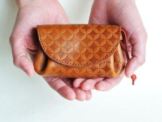 コロンとしたお財布 イタリアンレザー/ライトブラウンの画像