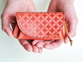 コロンとしたお財布 イタリアンレザー/コーラルピンクの画像