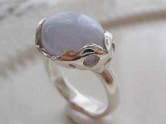 ブルーレースアゲートのリングの画像
