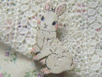 春の新作 白ウサギちゃんの画像
