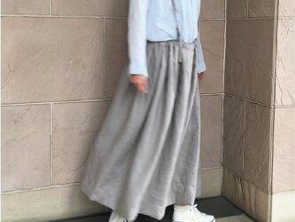 リネン タックギャザースカート 受注製作の画像