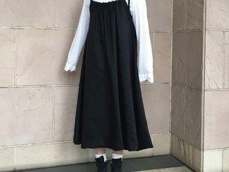 リネン 大人のジャンパースカートの画像