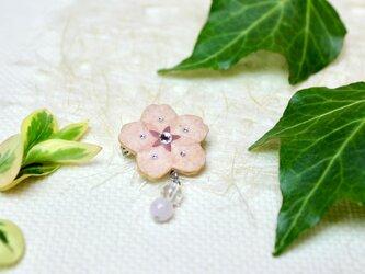 【和紙貼り絵アクセサリー】-夢桜(ゆめさくら)ブローチBの画像