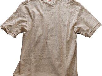Tシャツ レディース 半袖 オーガニックコットン 吊天竺 生成(きなり)色の画像