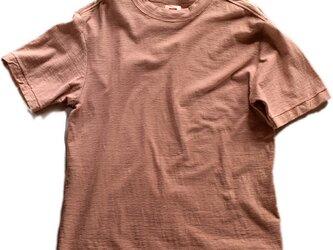 Tシャツ メンズ 半袖 オーガニックコットン 草木染め 吊天竺 檳榔子 ピンクの画像