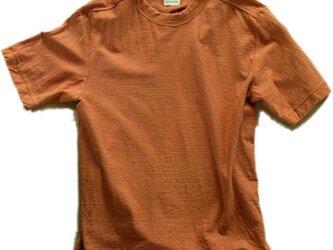 Tシャツ レディース 半袖 オーガニックコットン 草木染め 吊天竺 柘榴 茜 オレンジの画像