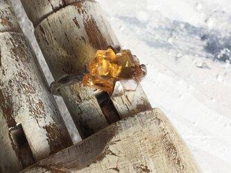 原石リング シトリンの画像