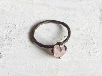 原石リング ピンクサファイヤの画像