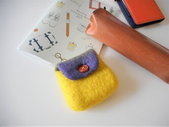 コインケース 黄色×紫の画像