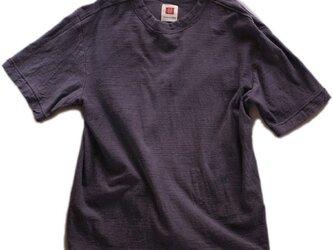 Tシャツ メンズ 半袖 オーガニックコットン 草木染め 吊天竺 五倍子 紫の画像