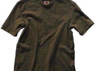 Tシャツ レディース 半袖 オーガニックコットン 草木染め 吊天竺 楊梅 カーキグリーンの画像