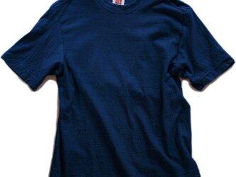 Tシャツ レディース 半袖 オーガニックコットン 藍染め 吊天竺 インディゴの画像