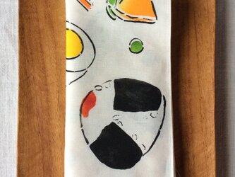 型染 ハンカチ「お弁当の歌 」の画像