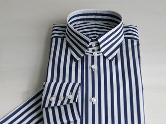 ☆オーダーメイド / 受注生産☆ トーマスメイソン タブカラー ロンドンストライプシャツの画像