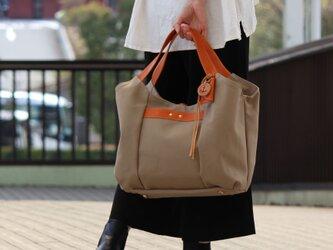 tanton-マッシュルーム(倉敷帆布×レザートートバッグ)の画像