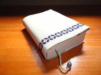 クロスステッチのブックカバーの画像