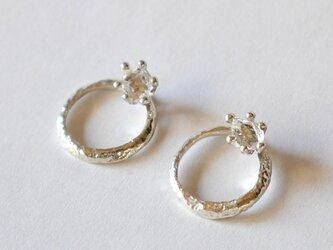 3way Herkimer diamond pierce(sv) ハーキマーダイヤモンド★ピアス★の画像