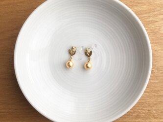 leaf earring/pierce【yellow gold】の画像