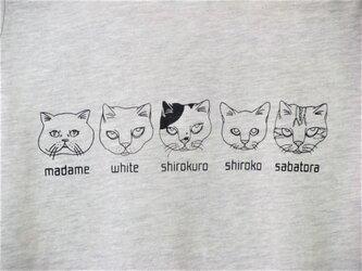 【L】猫ファイブ Tシャツ レディースの画像