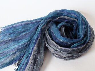 手織りシルクストール【淡月*05】の画像