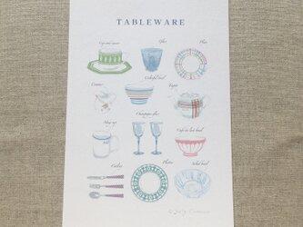 No.13ポストカード5枚セット テーブルウェアの画像