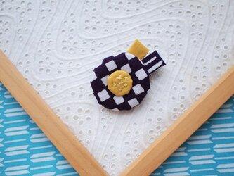 むらさき市松・小さなお花ブローチの画像