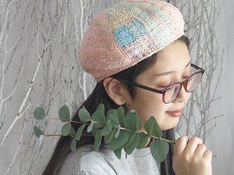 手織り 6枚はぎベレー帽子の画像