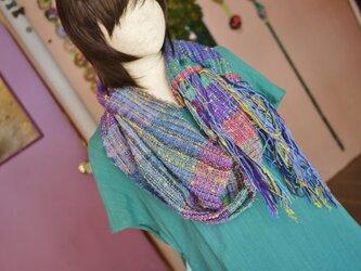 手織り スヌード 春夏の画像