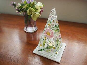 【即納】LEDキャンドルのミニランプ(マーガレットピンク)の画像