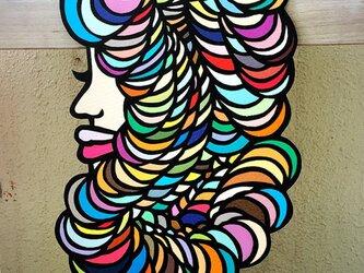 カラフルヘアーの画像