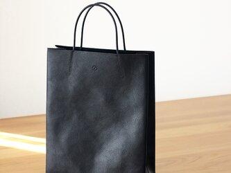 大人の革袋M・A4が入る・ブラック[受注生産品]の画像