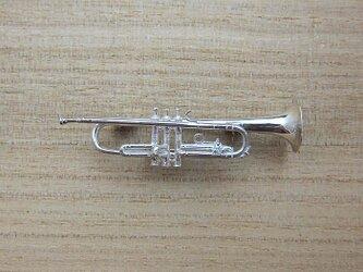 【再販】楽器 トランペット ダイヤ ブローチの画像