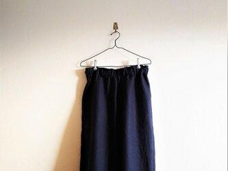 リネンのつぼみパンツ*紺の画像