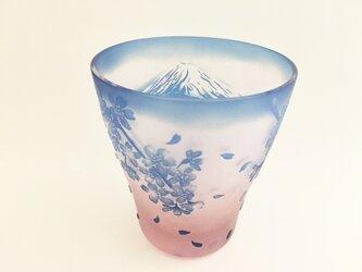 富士と桜の画像