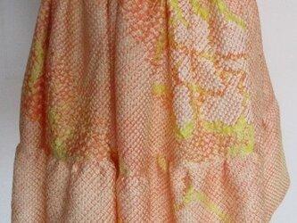 送料無料 絞りの羽織で作ったミニスカート 3387の画像