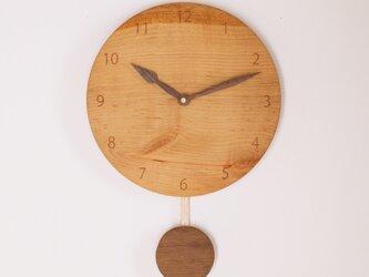 木製 振り子時計 桜材2の画像