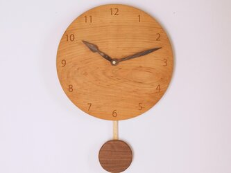 木製 振り子時計 桜材3の画像