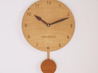 「moco*mocoさまご注文品」木製 振り子時計 楢材の画像
