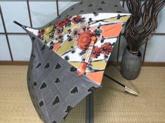 ショートタイプのパゴダ日傘 de 着物 春の日の画像