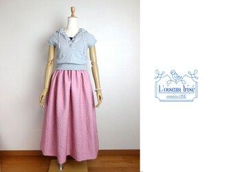 ギャザースカート モザイクピンクの画像