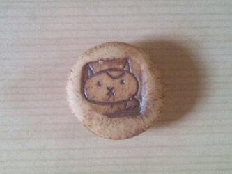 招き猫マグネット ブチの画像